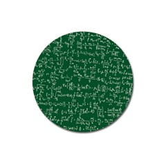 Formula Number Green Board Magnet 3  (round) by Mariart