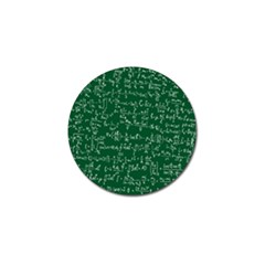 Formula Number Green Board Golf Ball Marker by Mariart