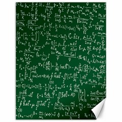 Formula Number Green Board Canvas 12  X 16   by Mariart