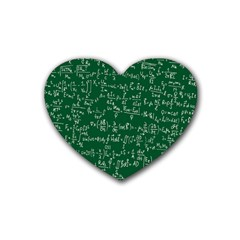 Formula Number Green Board Heart Coaster (4 Pack)  by Mariart