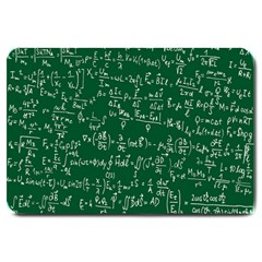 Formula Number Green Board Large Doormat  by Mariart