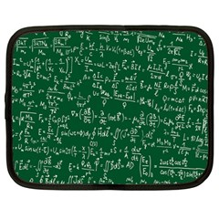 Formula Number Green Board Netbook Case (large) by Mariart