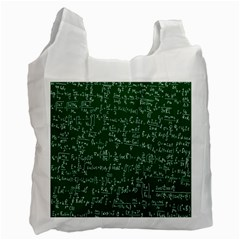 Formula Number Green Board Recycle Bag (two Side)  by Mariart
