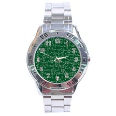 Formula Number Green Board Stainless Steel Analogue Watch by Mariart