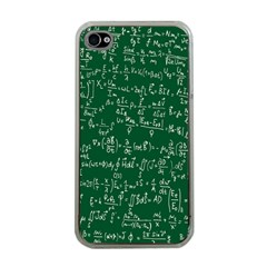 Formula Number Green Board Apple Iphone 4 Case (clear) by Mariart