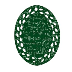 Formula Number Green Board Oval Filigree Ornament (two Sides) by Mariart