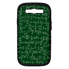 Formula Number Green Board Samsung Galaxy S Iii Hardshell Case (pc+silicone) by Mariart