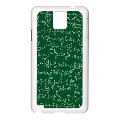 Formula Number Green Board Samsung Galaxy Note 3 N9005 Case (white) by Mariart