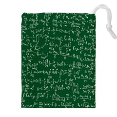Formula Number Green Board Drawstring Pouches (xxl) by Mariart