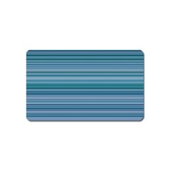 Horizontal Line Blue Magnet (name Card) by Mariart