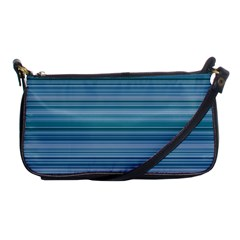 Horizontal Line Blue Shoulder Clutch Bags by Mariart