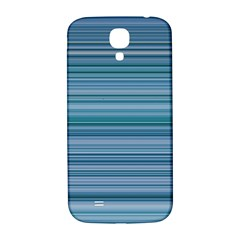 Horizontal Line Blue Samsung Galaxy S4 I9500/i9505  Hardshell Back Case by Mariart