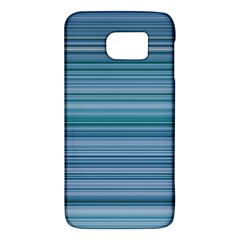 Horizontal Line Blue Galaxy S6 by Mariart