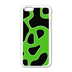 Abstract Shapes A Completely Seamless Tile Able Background Apple Iphone 6/6s White Enamel Case by Nexatart