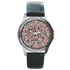 Hurley Mix Electric Electric Red Blend Round Metal Watch by Mariart