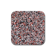 Hurley Mix Electric Electric Red Blend Rubber Square Coaster (4 Pack)  by Mariart