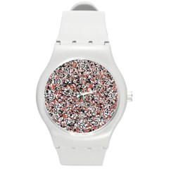 Hurley Mix Electric Electric Red Blend Round Plastic Sport Watch (m) by Mariart