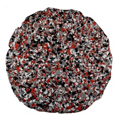 Hurley Mix Electric Electric Red Blend Large 18  Premium Round Cushions by Mariart