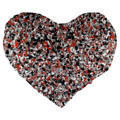 Hurley Mix Electric Electric Red Blend Large 19  Premium Heart Shape Cushions by Mariart
