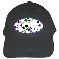 Colorful Random Blobs Background Black Cap