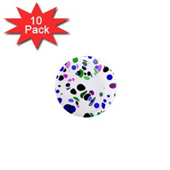 Colorful Random Blobs Background 1  Mini Magnet (10 Pack)  by Nexatart