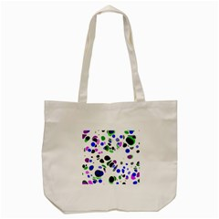 Colorful Random Blobs Background Tote Bag (cream) by Nexatart