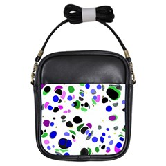 Colorful Random Blobs Background Girls Sling Bags by Nexatart