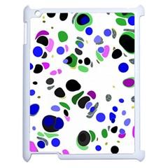 Colorful Random Blobs Background Apple Ipad 2 Case (white) by Nexatart