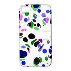 Colorful Random Blobs Background Apple Iphone 4/4s Hardshell Case With Stand by Nexatart