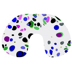 Colorful Random Blobs Background Travel Neck Pillows by Nexatart