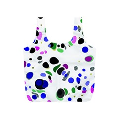 Colorful Random Blobs Background Full Print Recycle Bags (s)  by Nexatart