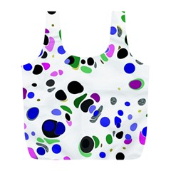 Colorful Random Blobs Background Full Print Recycle Bags (l)  by Nexatart