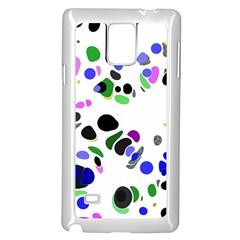 Colorful Random Blobs Background Samsung Galaxy Note 4 Case (white)