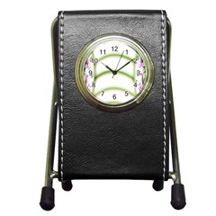 Abstract Background Pen Holder Desk Clocks