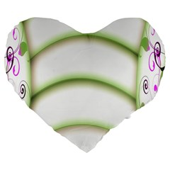 Abstract Background Large 19  Premium Heart Shape Cushions