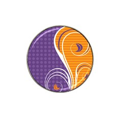 Leaf Polka Dot Purple Orange Hat Clip Ball Marker (10 Pack) by Mariart