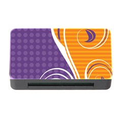 Leaf Polka Dot Purple Orange Memory Card Reader With Cf by Mariart