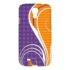 Leaf Polka Dot Purple Orange Samsung Galaxy S4 I9500/i9505 Hardshell Case by Mariart