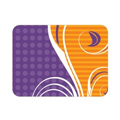 Leaf Polka Dot Purple Orange Double Sided Flano Blanket (mini)  by Mariart
