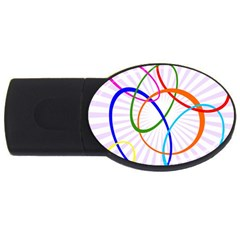 Abstract Background With Interlocking Oval Shapes Usb Flash Drive Oval (4 Gb)