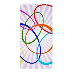 Abstract Background With Interlocking Oval Shapes Shower Curtain 36  X 72  (stall)  by Nexatart