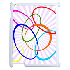 Abstract Background With Interlocking Oval Shapes Apple Ipad 2 Case (white) by Nexatart