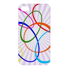 Abstract Background With Interlocking Oval Shapes Apple Iphone 4/4s Hardshell Case by Nexatart