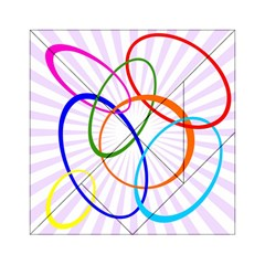 Abstract Background With Interlocking Oval Shapes Acrylic Tangram Puzzle (6  X 6 )