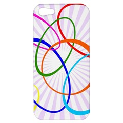 Abstract Background With Interlocking Oval Shapes Apple Iphone 5 Hardshell Case