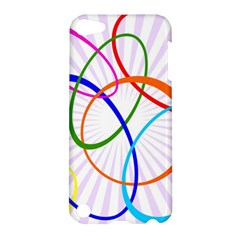 Abstract Background With Interlocking Oval Shapes Apple Ipod Touch 5 Hardshell Case