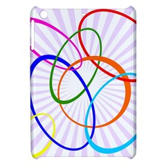 Abstract Background With Interlocking Oval Shapes Apple Ipad Mini Hardshell Case by Nexatart