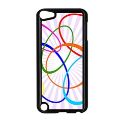 Abstract Background With Interlocking Oval Shapes Apple Ipod Touch 5 Case (black)