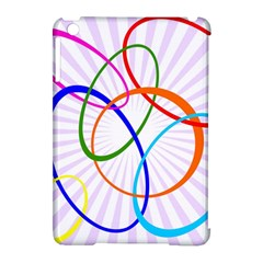 Abstract Background With Interlocking Oval Shapes Apple Ipad Mini Hardshell Case (compatible With Smart Cover)