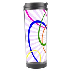 Abstract Background With Interlocking Oval Shapes Travel Tumbler